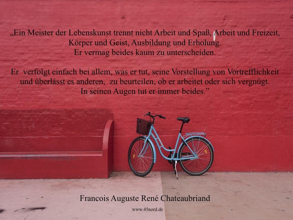 Ein tolles aufgeben Zitat oder auch Aufgeben Spruch von Francois Auguste Rene Chateaubriand.