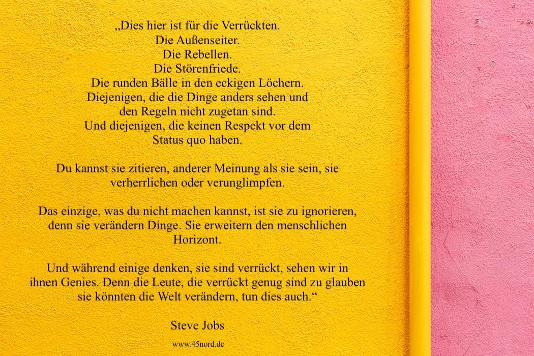 Steve Jobs Aufgeben Zitat, er hatte auch Aufgeben Spruch