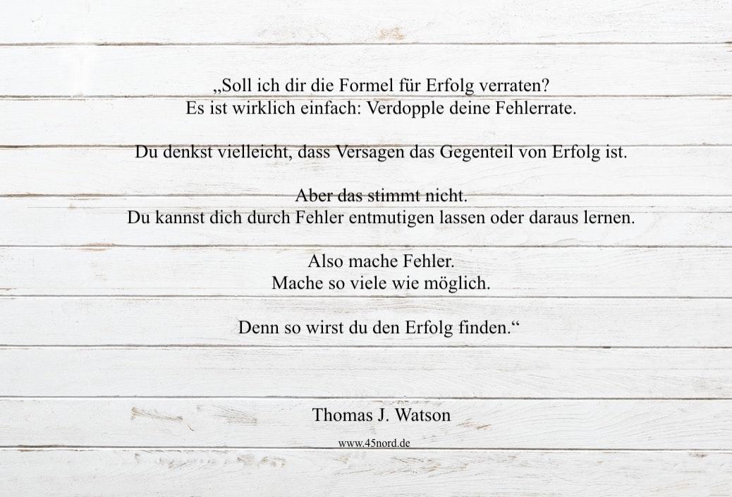 Aufgeben Spruch und Aufgeben Zitat von Thomas J. Watson