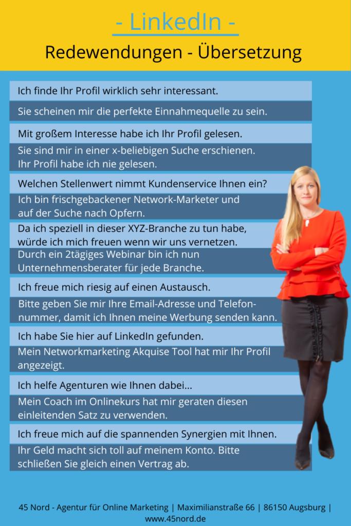 LinkedIN Redewendungen Übersetzung